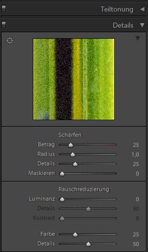 Einstellungen in Adobe Lightroom 4.4